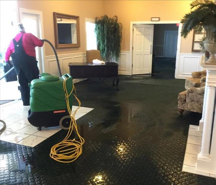 Water Damage Recovery at Funeral Home Before