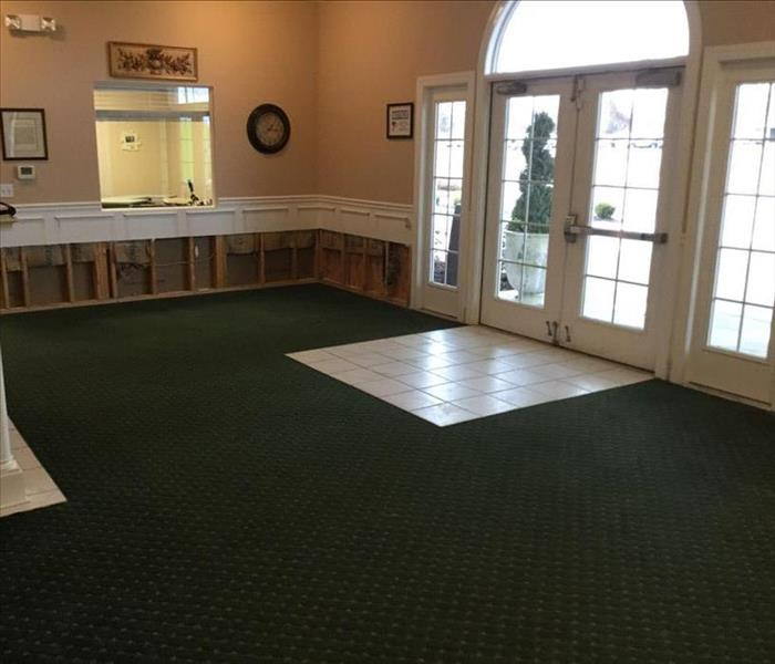 Water Damage Recovery at Funeral Home After